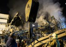 شب های سخت امدادگران در خرابه های پلاسکو+فیلم